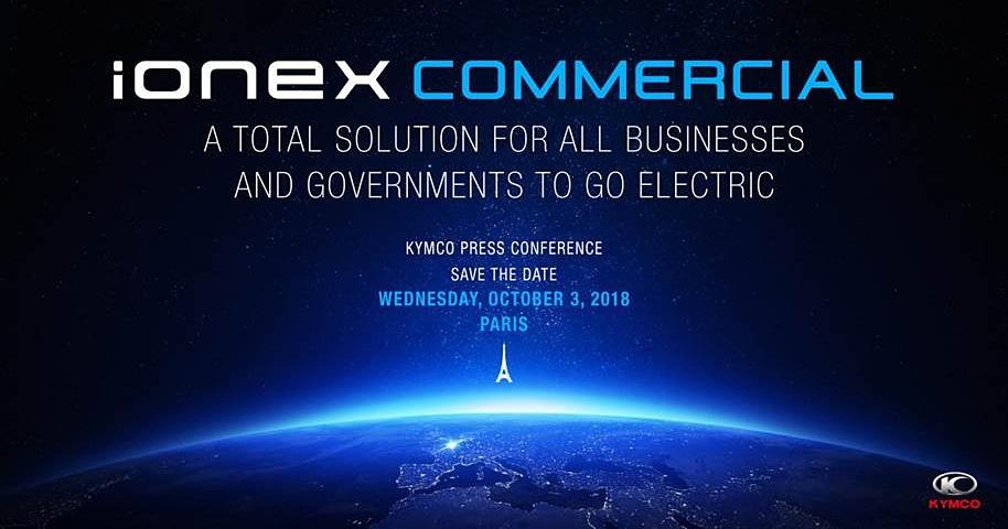 進軍巴黎,光陽將在 10/4 發表 iONEX 商用車能網國際發表會