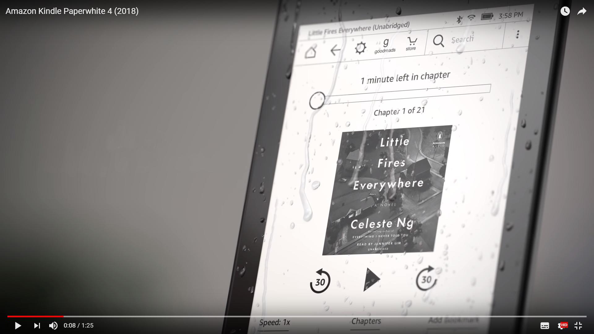 最新的Kindle Paperwhite 4來了!更薄更輕還防水,也具有藍牙功能