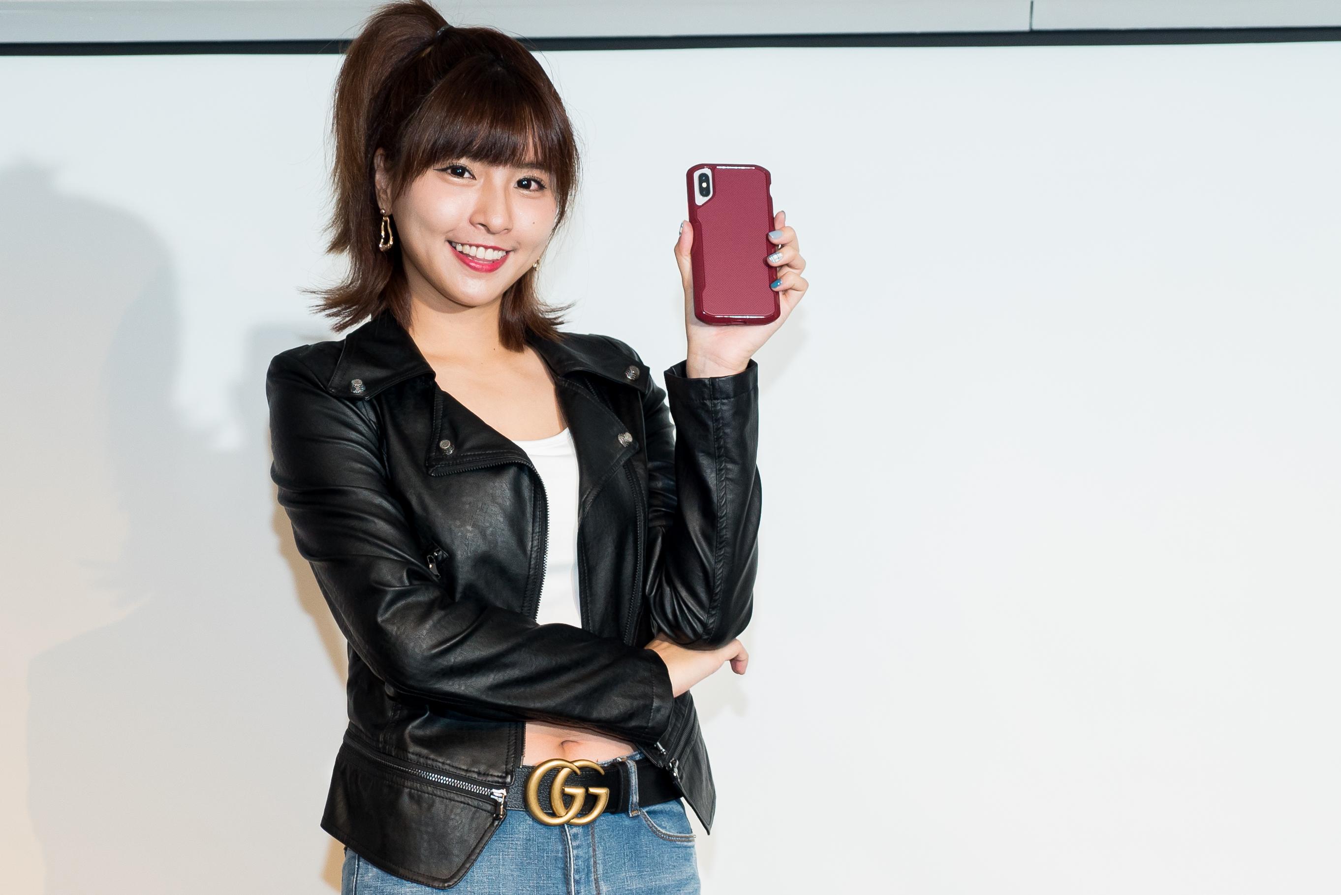 美國頂級手機殼品牌記者會,詹子晴、陳彥名大玩時尚,峮峮扮酷聊賽車。