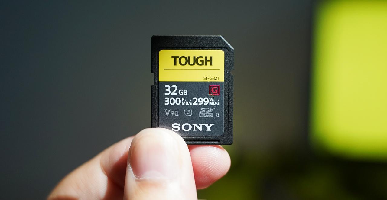 IPX8 防水、世界最速最耐操,Sony SF-G 系列 TOUGH 規格 SD 記憶卡問世