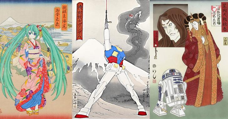 日本文化的最強碰撞,莫過於浮世繪與ACG聯動