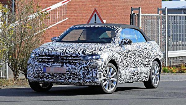 魅力上空CUV,VW T-Roc Cabriolet 偽裝車捕獲!