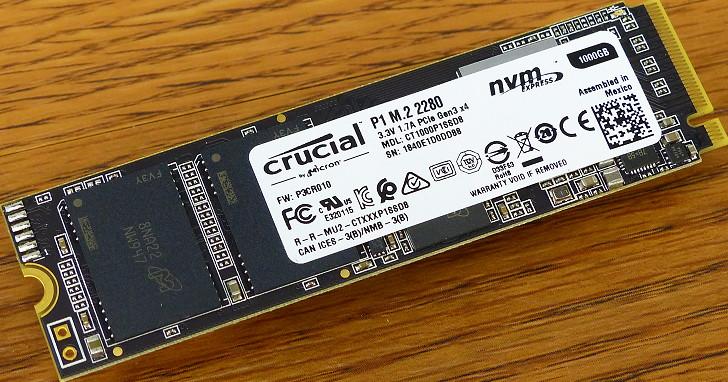 Micron Crucial 的第一次,採用 QLC 與 NVMe 的 P1 M.2 SSD 1000GB 容量實測