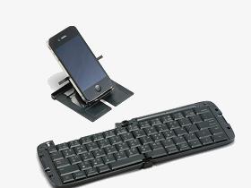 ELECOM 折疊式藍牙鍵盤,平版電腦、手機打字變身三倍速