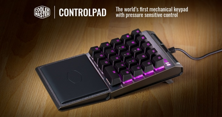 Cooler Master也玩類比鍵盤,推出迷你版24鍵ControlPad
