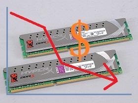 記憶體 價格續跌,組 8GB 不用一千五