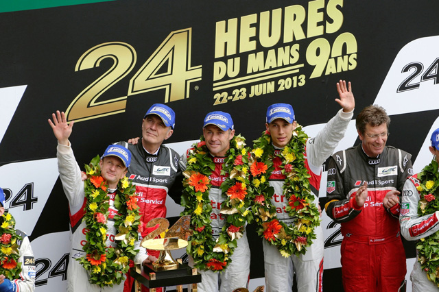 Audi R18 e-tron勇奪2013 Le Mans利曼24小時耐久賽冠軍,成功衛冕第12勝!