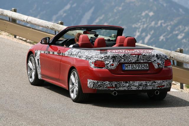 全新 BMW 4-Series敞篷轎跑車間諜照,測試車手的工作真讓人羨慕