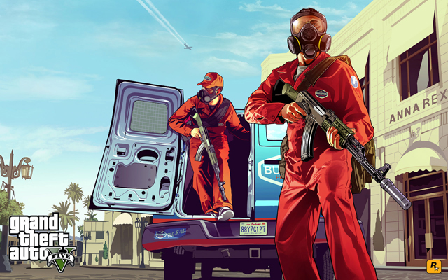 《Grand Theft Auto V 俠盜獵車手5》電動遊戲一日賺進8億美金!汽車、重機、或戰機隨你飆!