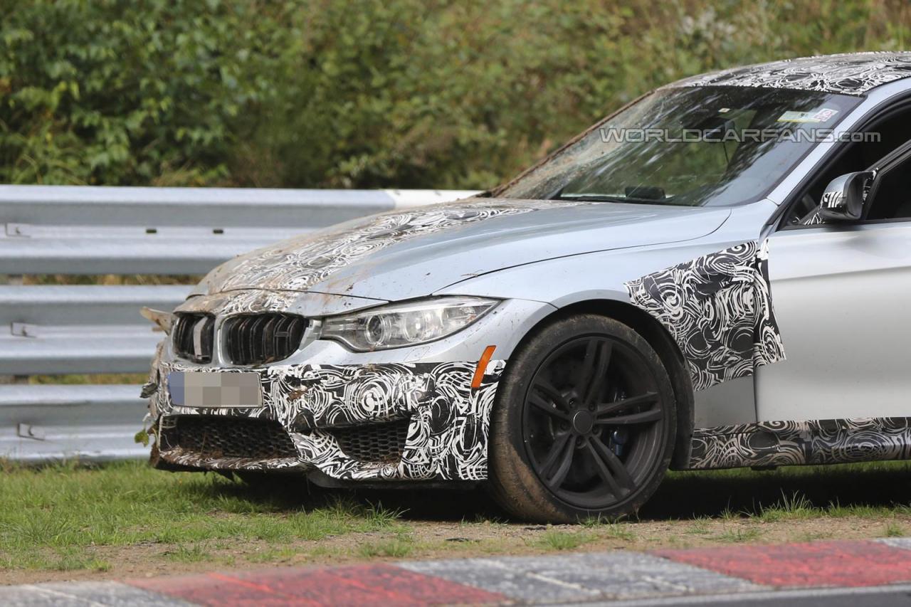 全新 BMW M3測試車在紐柏林北賽道 GG了!