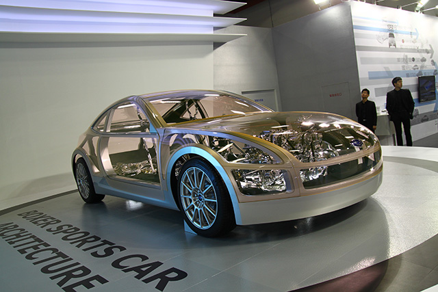 【2014台北車展】SUBARU「BRZ Architecture透明概念車、WRX Concept」雙雄勁駒聯袂登台