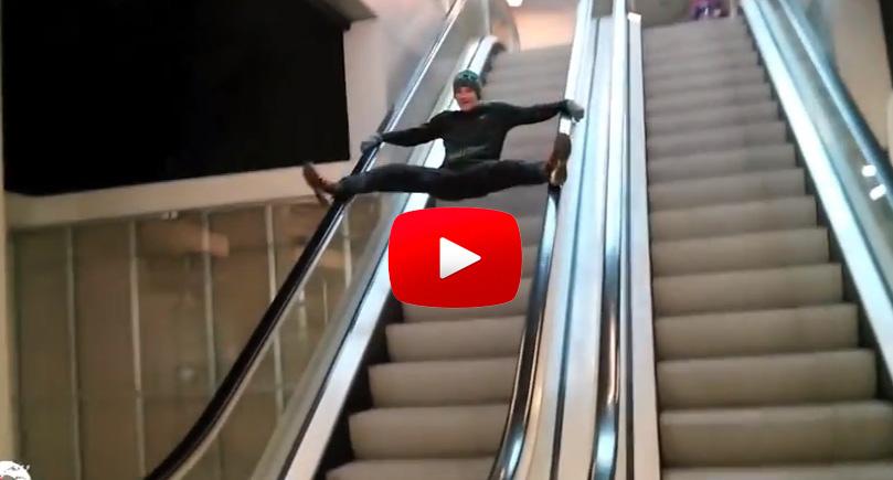 【手扶梯的錯誤使用方式】
