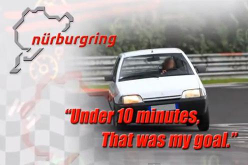 極限邊緣的開法,52匹馬力 Citroen老爺車不用10分鐘就搞定紐柏林北賽道單圈!