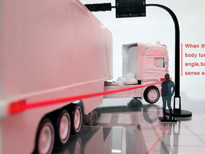 聯結車視覺死角偵測器,簡單的概念也能救人一命