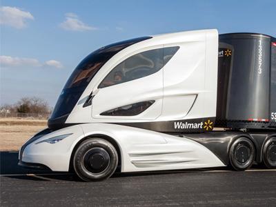 McLaren F1超跑的中置駕駛座+世界最大的碳纖維貨櫃箱=瘋狂的 WAVE概念聯結車!