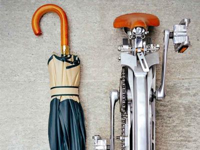 終極摺疊腳踏車,大約能縮到雨傘的尺寸!