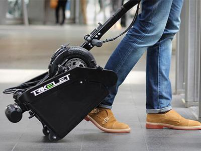 比隨身行李還要小的電動車!不用再騎得滿身汗去上班了!
