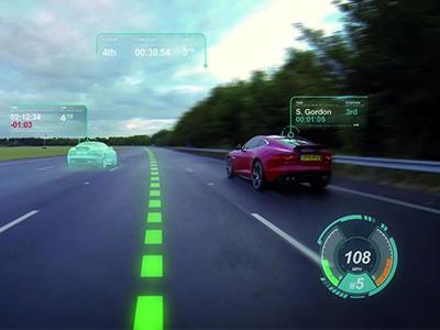 Jaguar Land Rover展現全新虛擬擋風玻璃科技,GT6電玩鬼影車功能上身!
