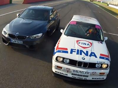 賽車與市售車的差距,老爺 BMW M3 E30 DTM賽車對上全新 M3轎跑車!