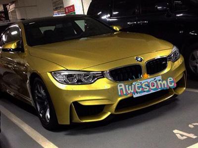 【熱門話題】捕獲野生 BMW M4!金黃車色也太顯眼了吧!
