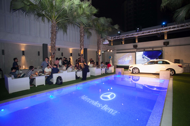 Mercedes-Benz new C-Class 風采閃耀 Beluga 高級池畔餐廳