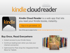 Amazon 推出 Kindle Cloud Reader,用瀏覽器就能看書