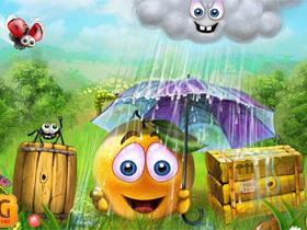 iPhone 小遊戲 Cover Orange,幫橘子躲過酸雨攻擊