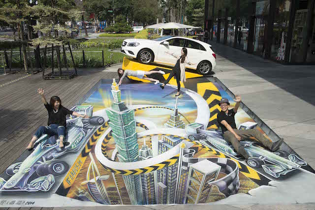 Mercedes-Benz創新「藝」 全台首見3D地景展車