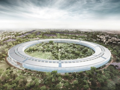 Apple 太空船總部於2015年降落地球