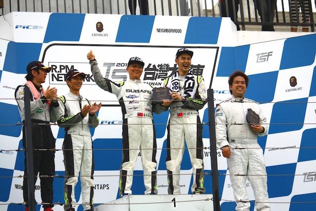 阮經天、盧政義駕駛 SUBARU BRZ拿下 2014 TSF台灣大賽車年度積分總冠軍