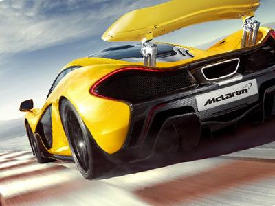 跑車與超跑的差距,McLaren P1像飛彈一樣從 Corvette Z06眼前飛走了...