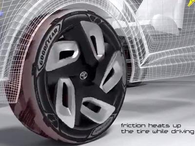 Goodyear 發表BH03熱能回收概念輪胎!居然還有太陽能充電功能