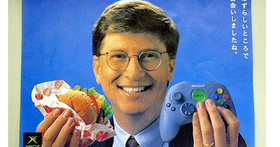 比爾‧蓋茲被人拍到深夜獨自排隊買漢堡,其實他根本就是美式漢堡的代言人吧!