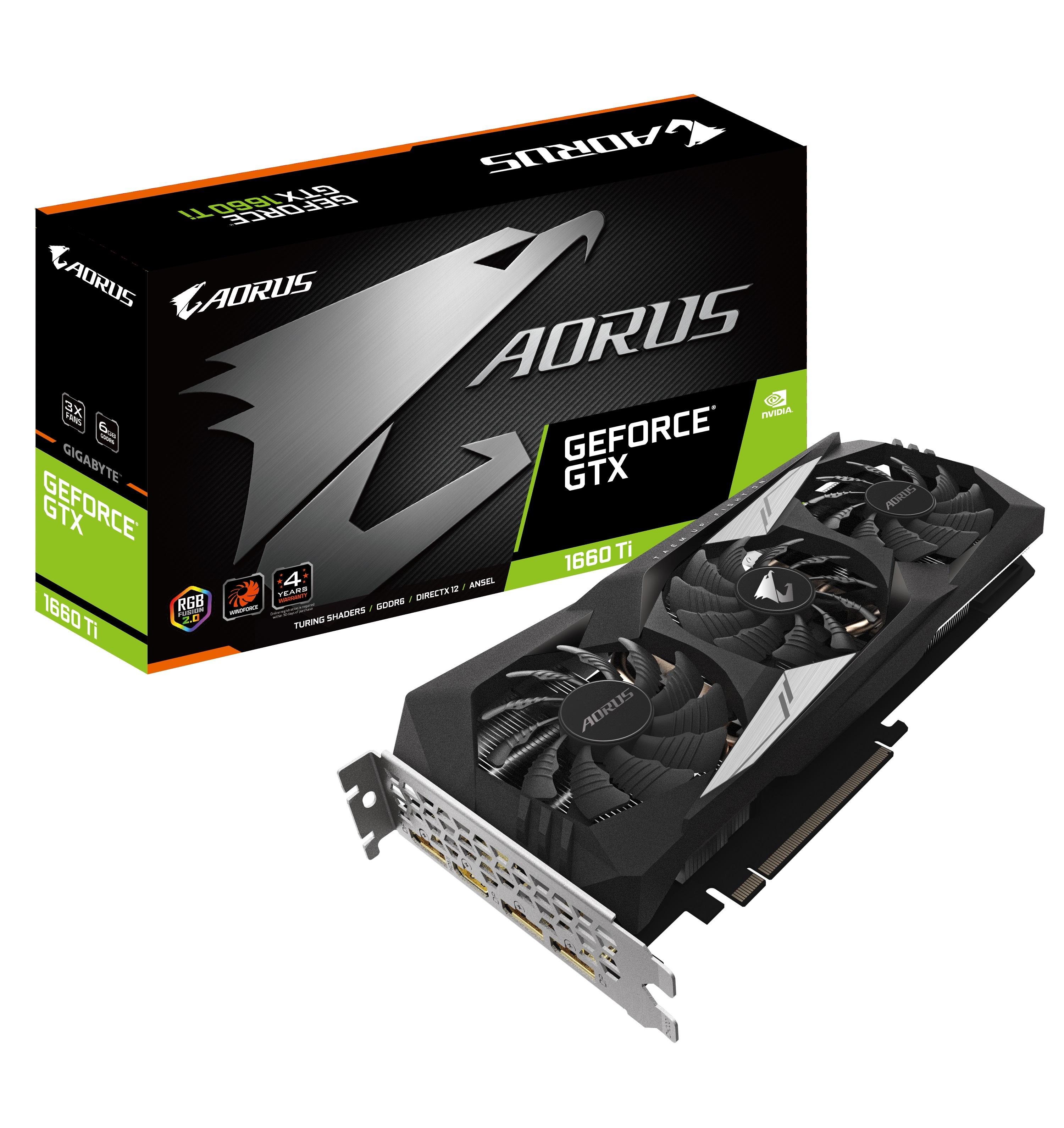 技嘉隆重推出多款GeForce GTX 1660Ti晶片顯示卡