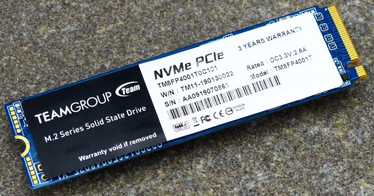 Team Group MP34 M.2 NVMe PCIe SSD 1TB 測試,國產 SSD 也有不俗的效能與耐寫量