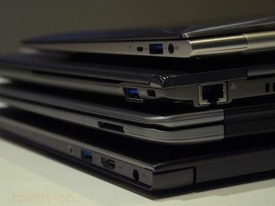 Acer、Asus、Toshiba、Lenovo Ultrabook 疊疊樂、比一比