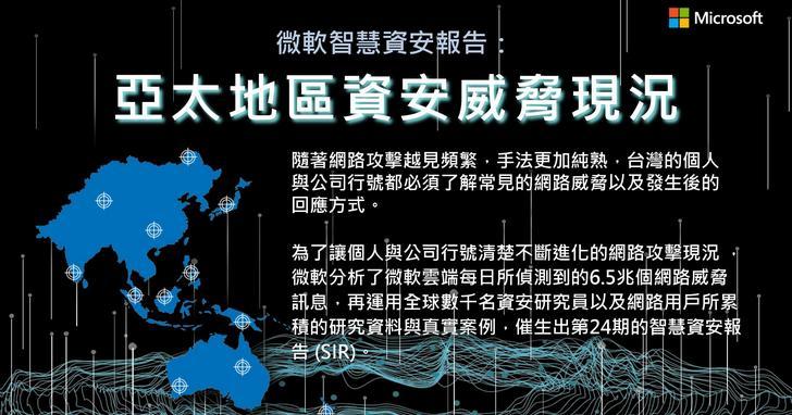 微軟最新《智慧資安報告》解密亞太地區網路犯罪四大威脅