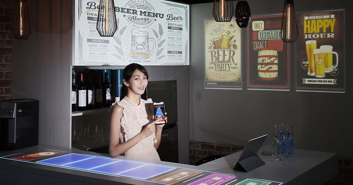 Epson LightScene雷射投影燈進駐餐飲空間,打造視覺互動新體驗