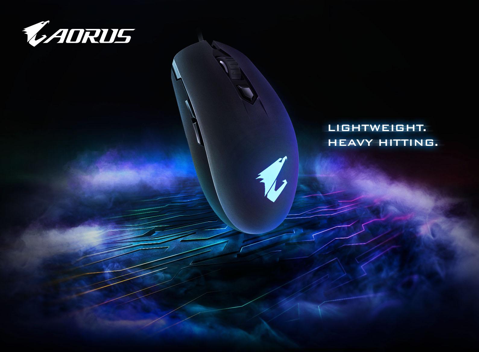 技嘉推出AORUS M2電競專用輕量滑鼠