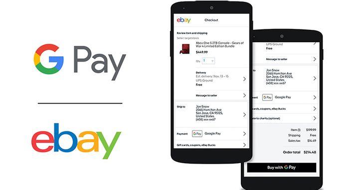 eBay行動支付再升級,付款功能新增Google Pay