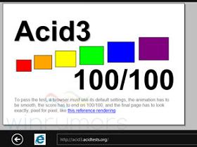 IE9、IE9 Mobile、IE10 總算在 Acid 3 拿到100分