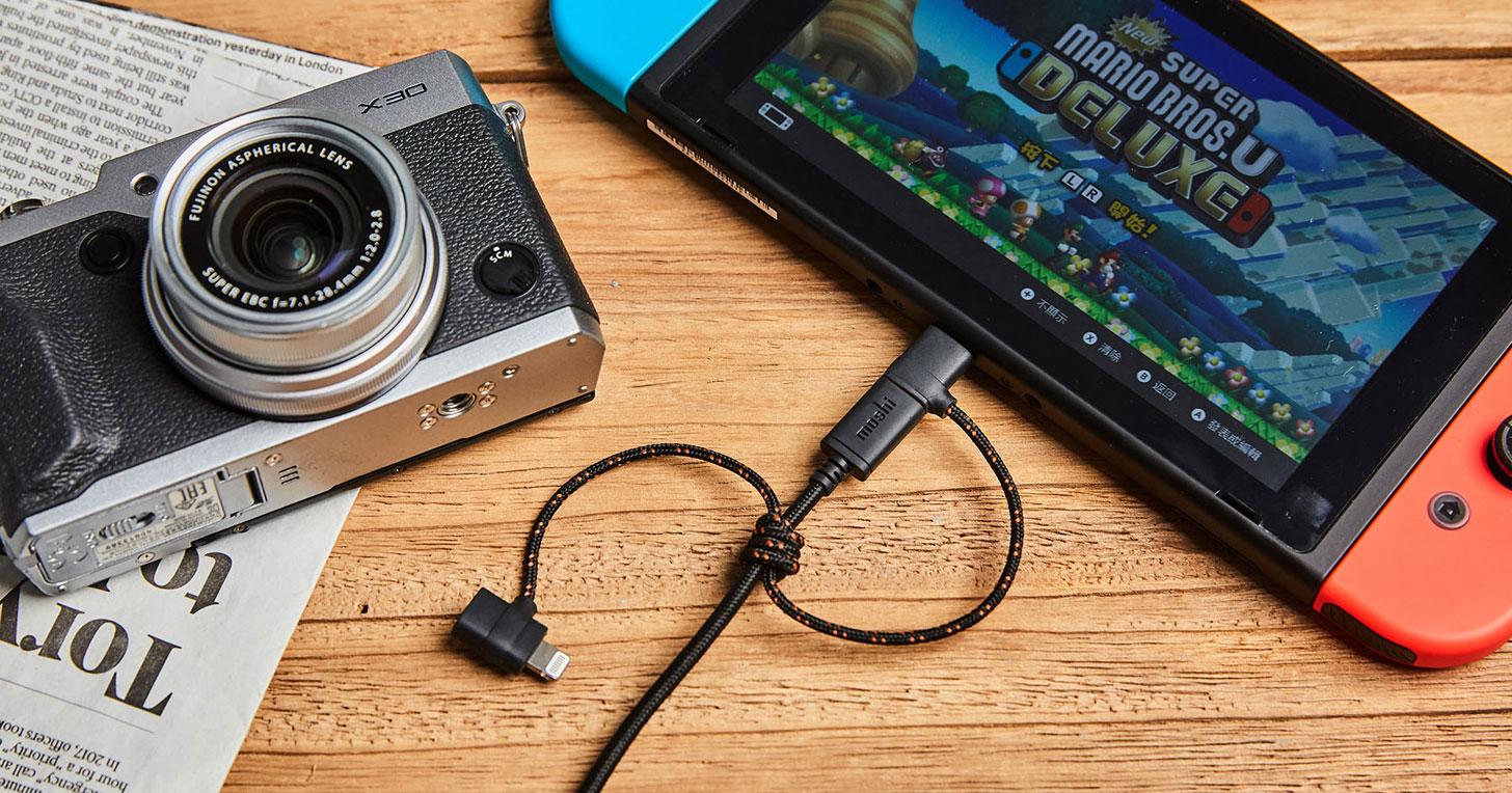 Moshi 三合一萬用充電線動手玩:相容於三大主流介面、支援充電與資料傳輸!