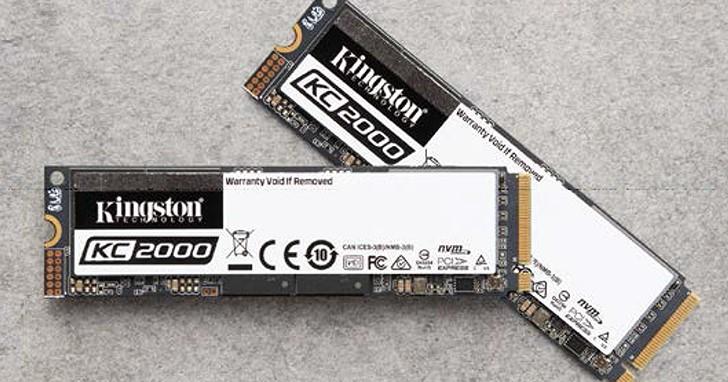 導入 BiCS4 96 層 3D 堆疊快閃記憶體,Kingston KC2000 NVMe PCIe SSD 速度再提升
