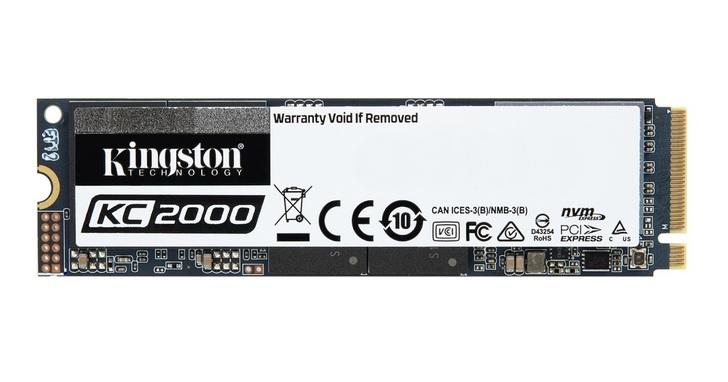Kingston金士頓推出新一代KC2000 NVMe PCIe SSD固態硬碟