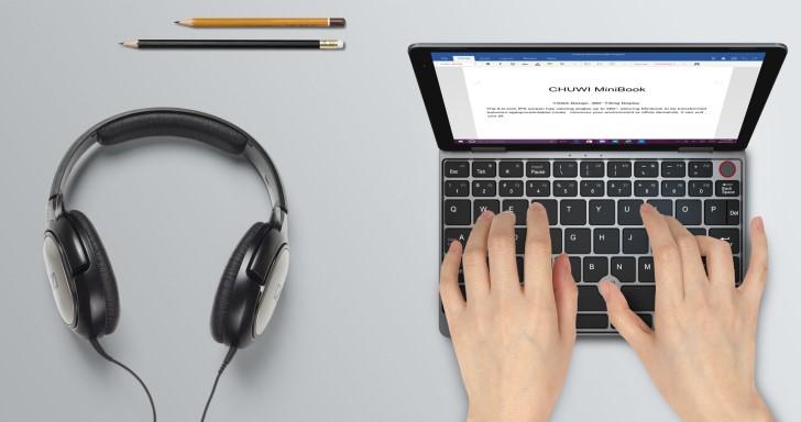 Chuwi MiniBook迷你翻轉筆電搭Core m3處理器,8吋機身僅重662克