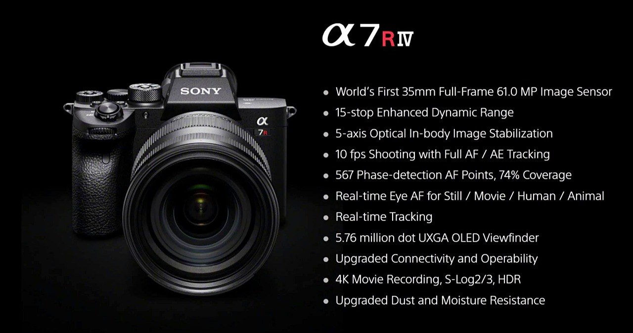 全幅畫素最高!Sony發表新一代A7R4,可拍攝6,144萬畫素10fps連拍與2.4億高解像模式