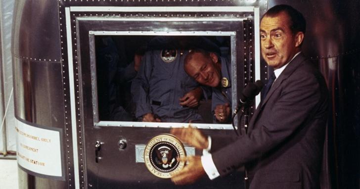 如果阿波羅11號的登月成員死亡,尼克森的演講就會這樣說