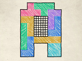 手機益智遊戲 Doodle Fit,七巧板挑戰你的空間想像力