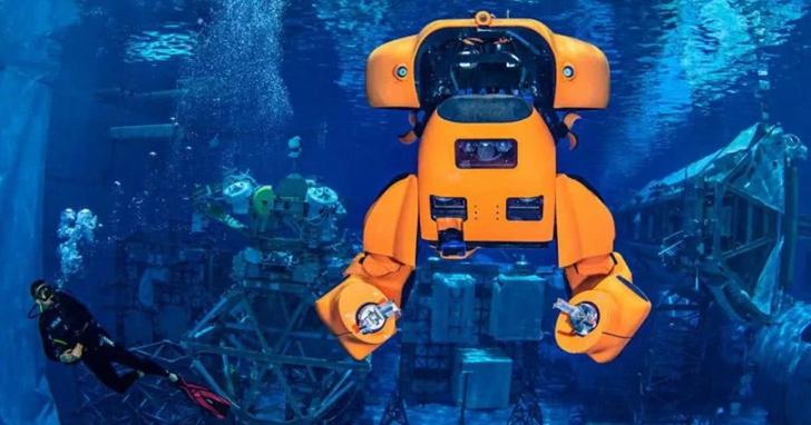 在休士頓巨型人造湖中,NASA「養」了一隻海底變形金剛