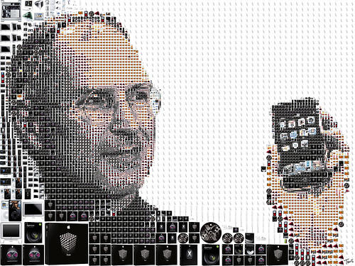 向賈伯斯致敬:用蘋果產品拼貼肖像、Think Different 謎題